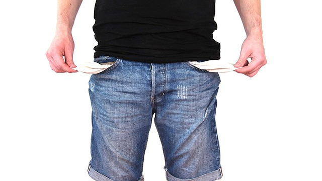 kapsy bez peněz